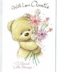 Auntie-Birthday-Card-Embossed-With-Teddy-Kitten-Design-283363064459
