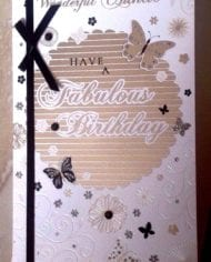 Auntie-Birthday-Card-In-A-Lovely-Gold-And-Black-Pop-Out-Butterfly-Design-282635332469