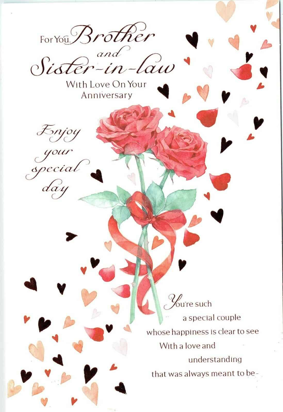 SISTER AND BROTHER-IN-LAW ANNIVERSARY CARD