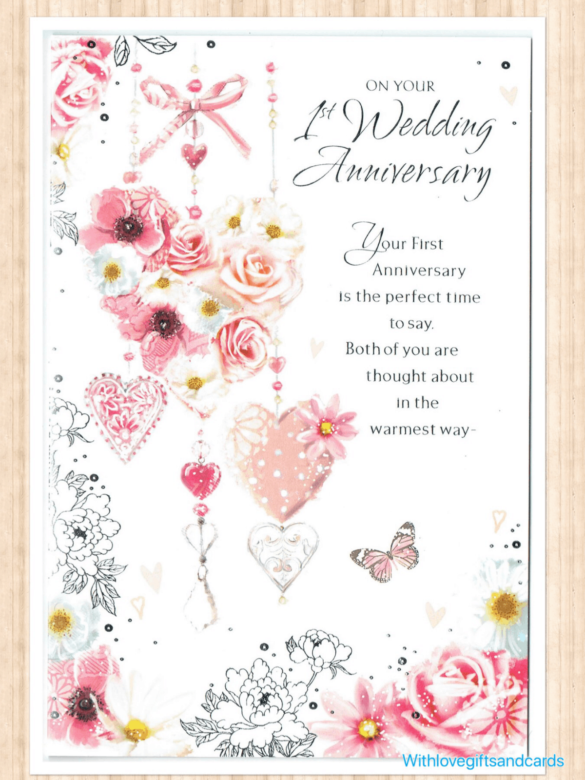 First Wedding Anniversary.Details About First 1st Wedding Anniversary Card With Flowers And Sentiment Verse