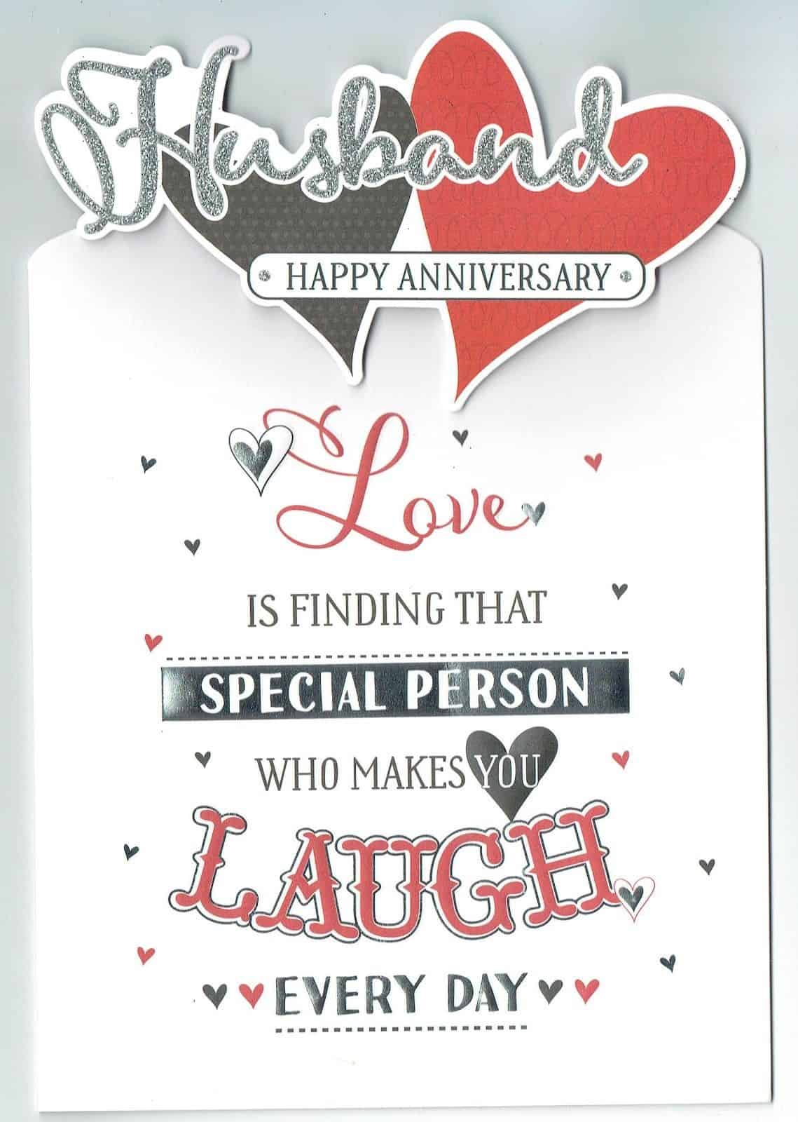 Husband Anniversary Card Love Is With Love Gifts Cards