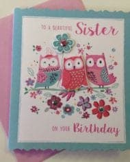 Sister-Birthday-Card-3D-To-A-Beautiful-Sister-With-Owls-282393680899