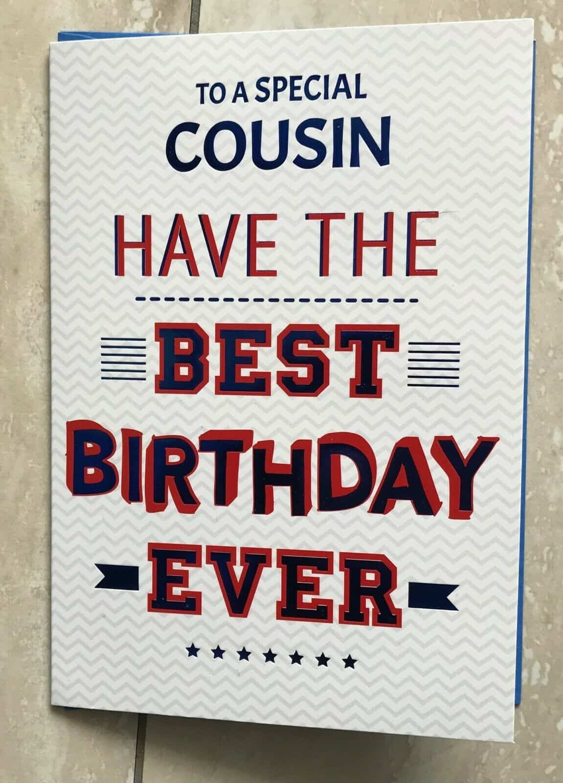 Variation Of Cousin Birthday Card Choose From Two
