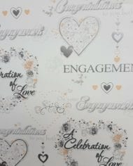 Variation-of-Engagement-Wedding-Anniversary-Gift-Wrap-Paper-185-For-2-Sheets-amp-Tags-282409175869-e99a